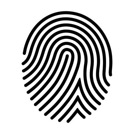 Human fingerprint / finger print or biometric scan line art vector icon for apps and websites Vector Illustration