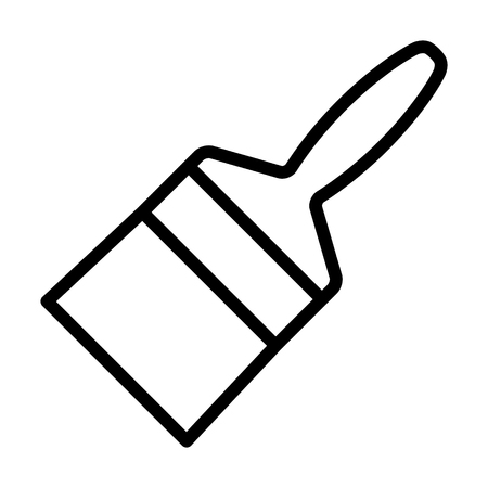 Wide paintbrush or paint brush for art line vector icon for painting apps and websites Illusztráció