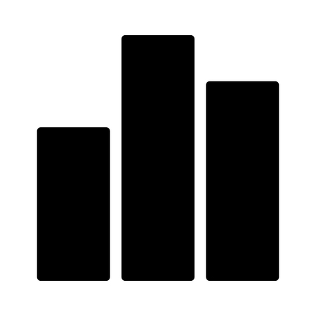 Bar graph or bar chart with different financial values flat vector icon for finance apps and websites