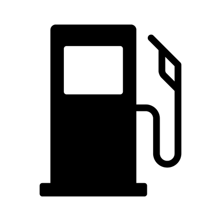 Self service gasoline / gas pump or petrol fueling station stand flat vector icon for apps and websites