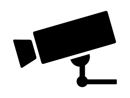 Security surveillance video camera or closed circuit television / CCTV flat vector icon for apps and websites