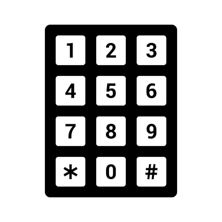 Nummernblock oder flache Vektorsymbol der numerischen Telefontastatur für Apps und Websites Vektorgrafik