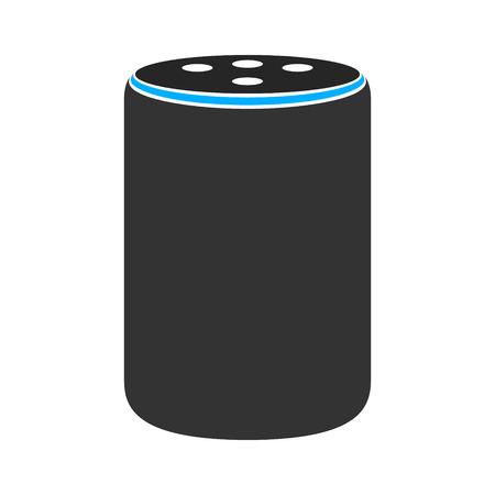 Icona di colore vettoriale piatto di medie dimensioni più altoparlante intelligente assistente virtuale per app e siti Web