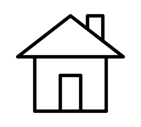 House, home residence address or real estate line art vector icon for apps and websites Illustration