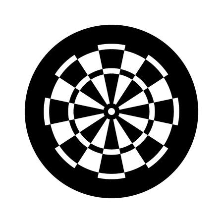 Freccette per freccette pub gioco icona vettoriale piatta per app sportive e siti web Vettoriali