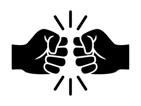Bro fist bump or power five pound flat vector icon for apps and websites Vektorové ilustrace