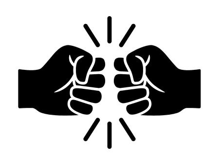 Bro fist bump ou power icône vectorielle plate de cinq livres pour les applications et les sites Web Vecteurs