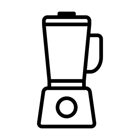 Countertop food blender or food processor line art vector icon for apps and websites Çizim