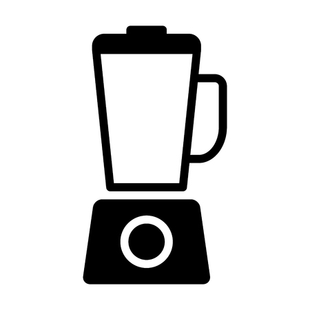 Countertop food blender or food processor flat vector icon for apps and websites Illustration