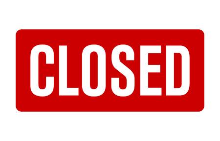 Cartello rosso chiuso per il vettore al dettaglio/negozio per siti Web e stampa Vettoriali