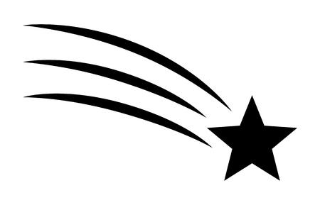 Vallende ster / doe een wens plat vectorpictogram voor apps en websites