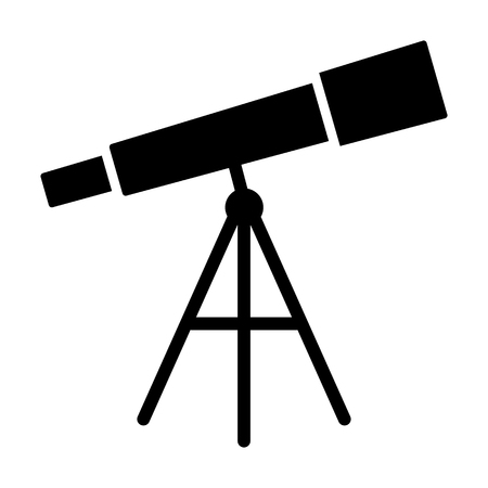 Optical telescope for observational astronomy flat vector icon for apps and websites Illustration