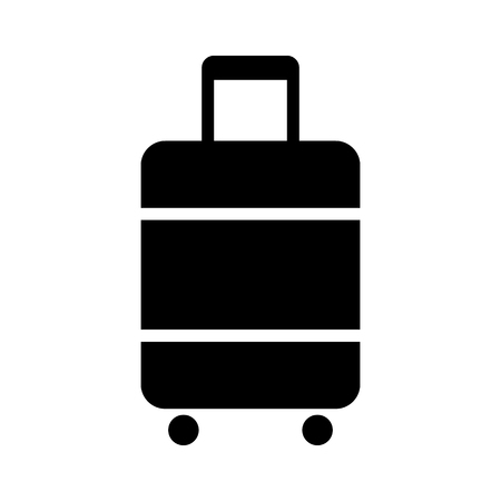 Carry-on luggage or cabin luggage flat vector icon for travel apps and websites Illustration
