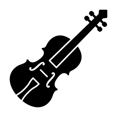 Classical violin - string instrument flat vector icon for music apps and websites Archivio Fotografico - 114860863