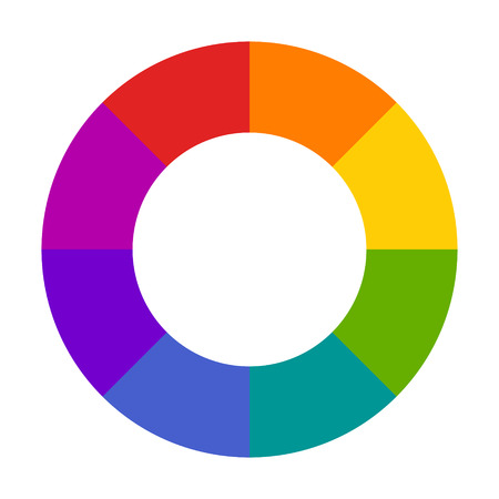 Hallow color wheel or color picker circle flat vector icon for drawing / painting apps and websites 向量圖像