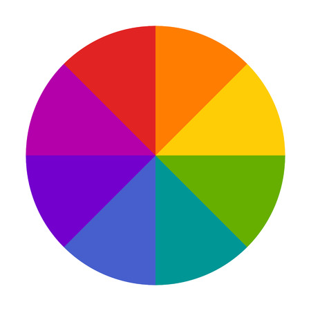 Rueda de color o icono de vector plano selector de círculo de color para aplicaciones de dibujo / pintura y sitios web
