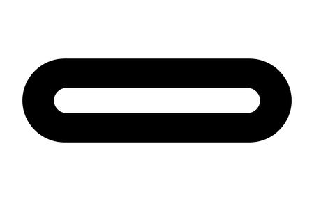 USB Type C or USB 4 connector cable flat vector icon for apps and websites