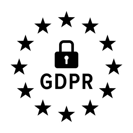 GDPR - General Data Protection Regulation of the European Union flat vector icon for data privacy apps and websites Illustration