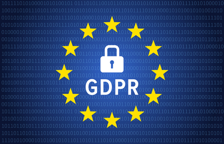 GDPR - General Data Protection Regulation of the European Union editorial illustration for data privacy websites
