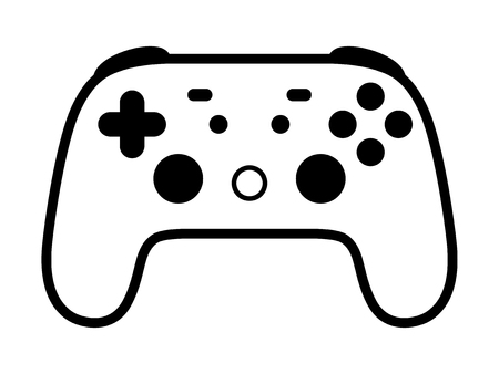 Cloud gaming video game controller line eart vector icon for games and websites