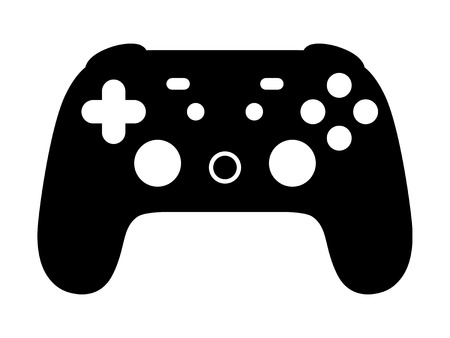 Cloud gaming video game controller flat vector icon for games and websites Illustration