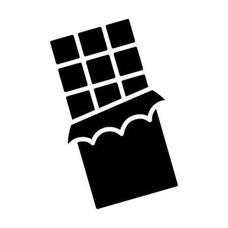 Chocolate bar with squares in wrapper flat vector icon for apps and websites