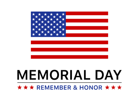 Memorial Day holiday display poster banner flat vector design