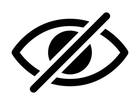Oculto a la vista el ojo tachado icono de vector plano para aplicaciones y sitios web Ilustración de vector
