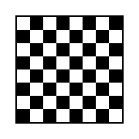 8x8 checker or chess board  chessboard black and white vector with border