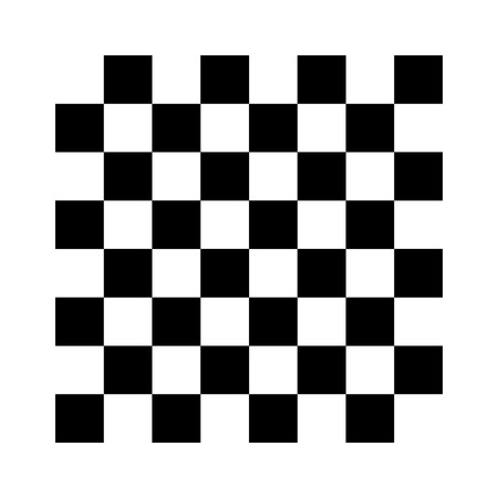 8x8 checker or chess board  chessboard black and white vector Illustration