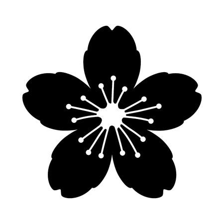 Fleur de cerisier ou icône vectorielle plate de sakura pour les applications et les sites Web