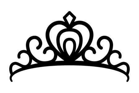 Couronne de diadème de princes ou icône de vecteur d'art en ligne diadème royal pour les applications et les sites Web Vecteurs
