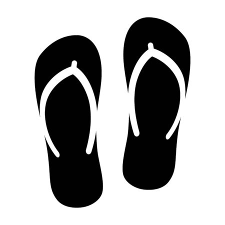 Flip flops sandal beach wear flat vector icon for apps and websites  イラスト・ベクター素材