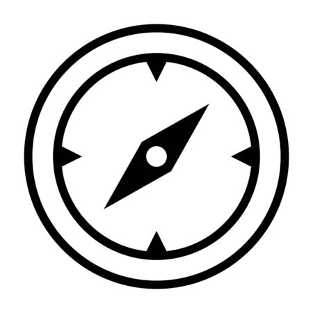 Discovery, compass or navigation line art vector icon for navigational apps and website