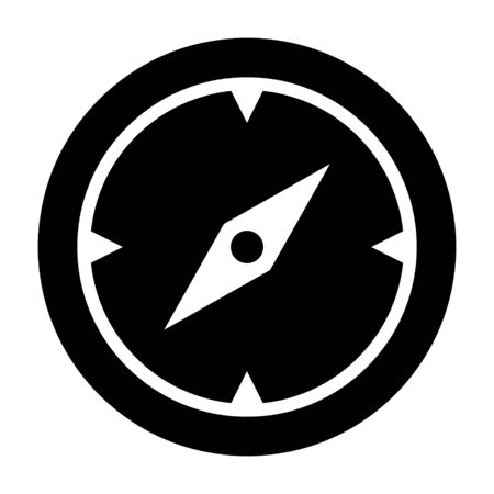 Discovery, compass or navigation flat vector icon for navigational apps and website