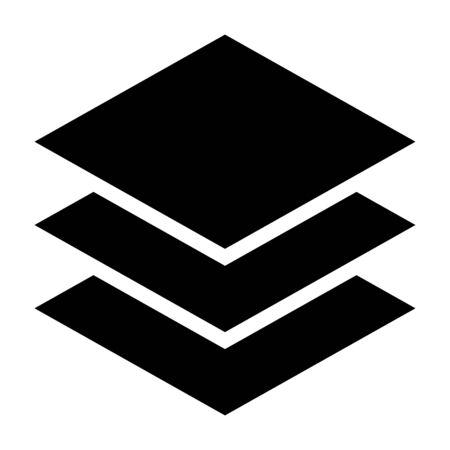 Couches, documents papier ou icône vectorielle plate de plastification pour les applications et les sites Web Vecteurs