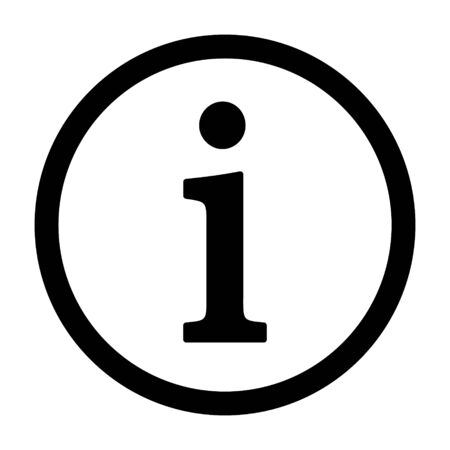 Icône de vecteur d'art de ligne d'aide de bouton rond d'informations ou d'informations pour les applications et les sites Web