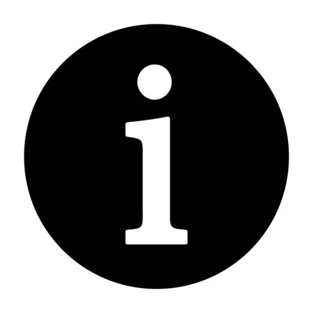 Information or info round button help flat vector icon for apps and websites Vettoriali