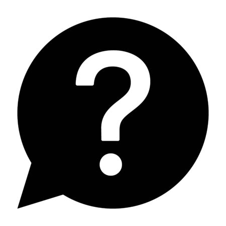 Question bubble or FAQ line art vector icon for apps and websites