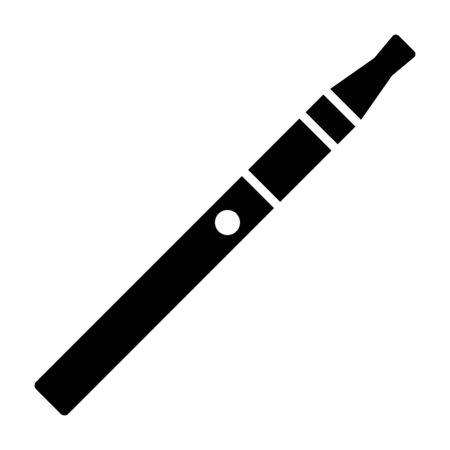 Vape pen or e-cigaretteecigarette flat vector icon for apps and websites