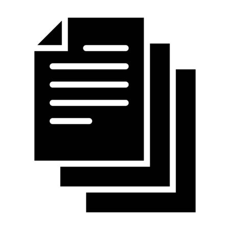 Bunch of notes or stack of documents flat vector icon for apps and websites
