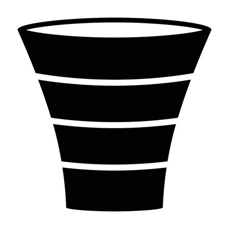 Sales lead funnel process diagram flat vector icon for business apps and websites