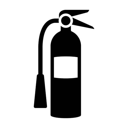 Fire extinguisher flat vector icon for apps and websites