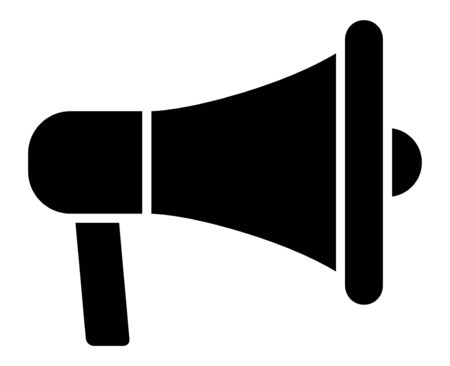 Electric megaphone or marketing advertising flat vector icon for apps and websites