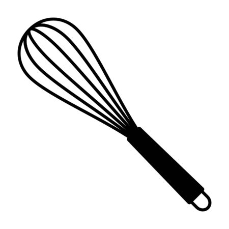Balloon whisk for mixing and whisking flat vector icon for cooking apps and websites Illusztráció