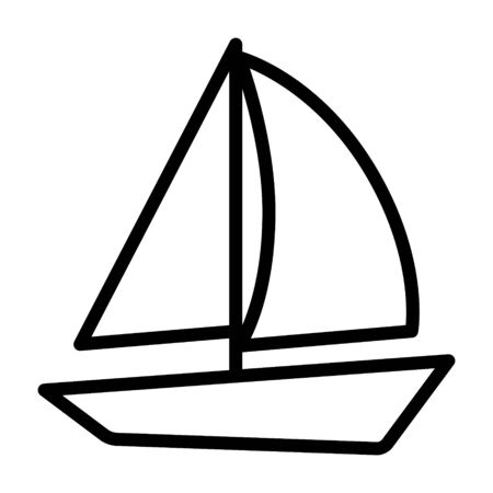 Sail boat for sailing line art vector icon for apps and websites
