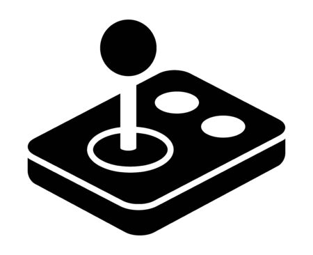 Arcade video game joystick gamepad with buttons flat vector icon for gaming apps and websites Ilustração
