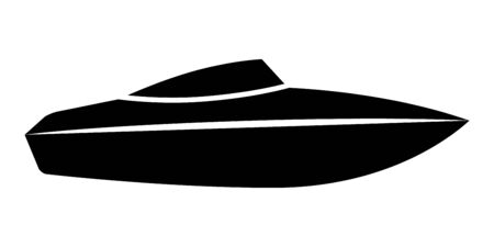 Speed boat or speedboat  motorboat flat vector icon for transportation apps and websites