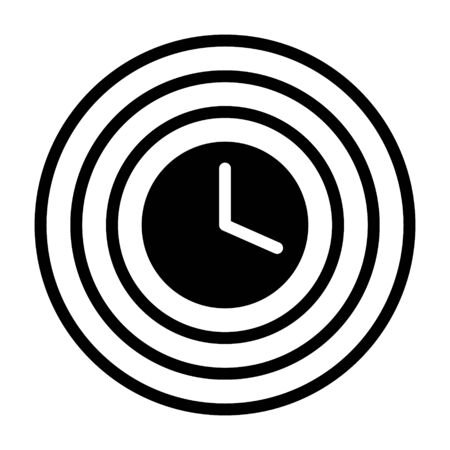 Ripples in time / time travel concept flat vector icon for apps and websites