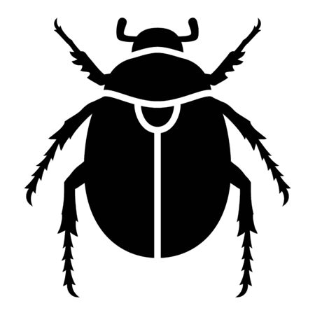 Scarab beetle flat vector icon for wildlife apps and websites